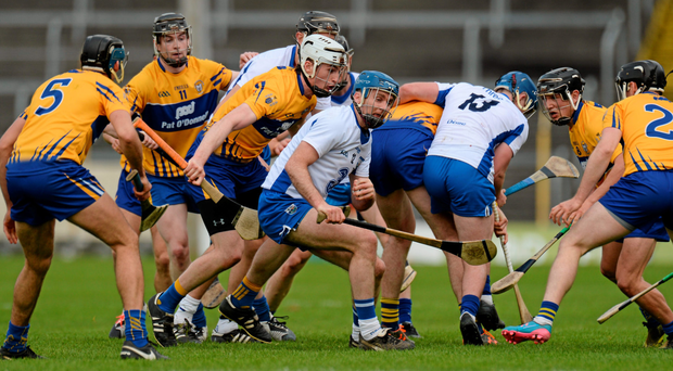 Waterford's Kevin Moran gathers possession during the Allianz Hurling League final last Sunday. Photo: Piaras Ó Mídheach / Sportsfile