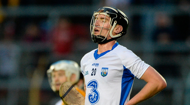 Pauric Mahony reacts after dropping his late free short near the end of the All-Ireland SHC semi-final replay between Kilkenny and Waterford. Picture: Sportsfile