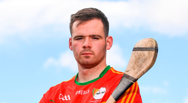 """We're just hoping to get a bit of luck or a bounce of a ball on the day,"""" said Carlow's captain. Photo: Sportsfile"""