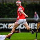 Cuala star Con O'Callaghan scores his side's second goal during the AIB Leinster SHC club semi-final against St Martin's. Photo: Sportsfile
