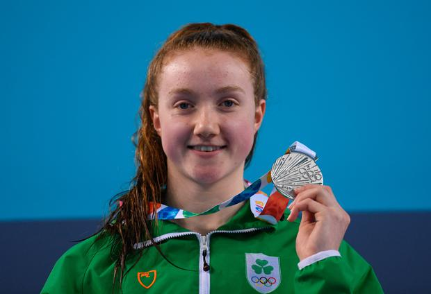 Niamh Coyne with her silver medal. Photo: Sportsfile