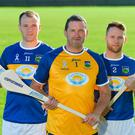 Former Tipperary players, from left, Lar Corbett, Brendan Cummins, and Paddy Stapleton in attendance at the launch of the Tipperary v Kilkenny: The Legends Return - a benefit match for Amanda Stapleton. Photo: Sportsfile