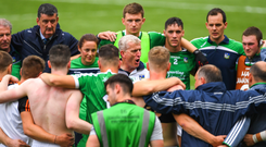 John Kiely holds the attention of this players after last year's All-Ireland SHC semi-final. The Limerick boss is well aware of the challenges his men face as reigning champions. Photo: Sportsfile