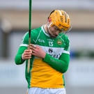Offaly's Conor Langton stands dejected. Photo: Sportsfile