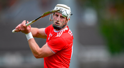 Patrick Horgan in typical pose taking a free. Photo: Sportsfile