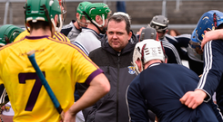 High hopes: Davy Fitzgerald wants his Model men to stand up and be counted. Photo: Sportsfile
