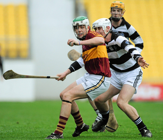 Paddy Deegan lining out with Kilkenny CBS against St Kieran's in 2013. Photo: Sportsfile