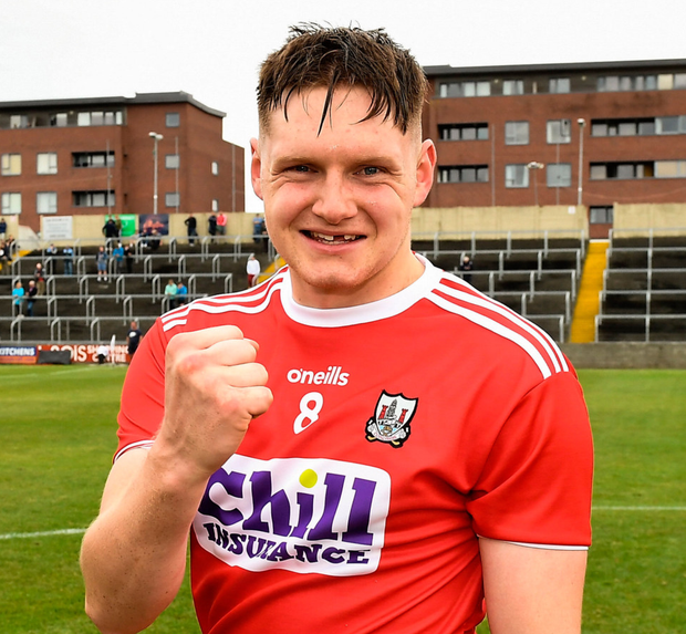 Cork's Ryan Walsh after yesterday's win. Photo: Sportsfile