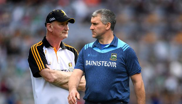 Liam Sheedy will be 50 in October. Brian Cody is now 65. None of that appears to matter, as age shows no diminution in either party. Photo: Sportsfile