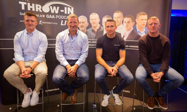 Joe Canning, Eddie Brennan, John Mullane and Brendan Cummins featured in a special edition of The Throw-In, Independent.ie's GAA podcast in association with Bord Gáis Energy. Photo: Owen Breslin