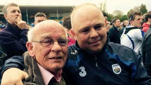 Former Waterford hurling manager Derek McGrath pictured with his late father Nickey