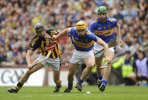 Padraic Maher, Tipperary, in action against Aidan Fogarty, Kilkenny in the 2009 All-Ireland Senior Hurling Championship final