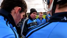 New Dublin hurling manager Ger Cunningham with the Dublin team at half time