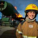 Dublin footballer Lyndsey Davey pictured at Dublin Airport where she is a trainee fire-fighter ARTHUR CARRON