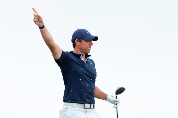 Rory McIlroy carded birdies on two of the last four holes