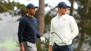 Rory McIlroy and Tiger Woods were paired together at The Northern Trust event