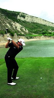 Graeme McDowell is looking forward to playing the extremely challenging Gary Player-designed Thracian Cliffs course this week