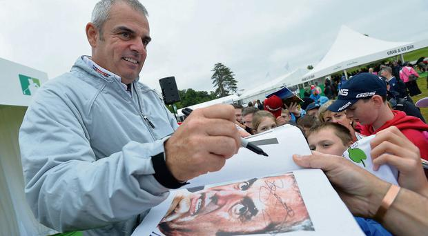 Paul McGinley signs autographs at the Irish Open