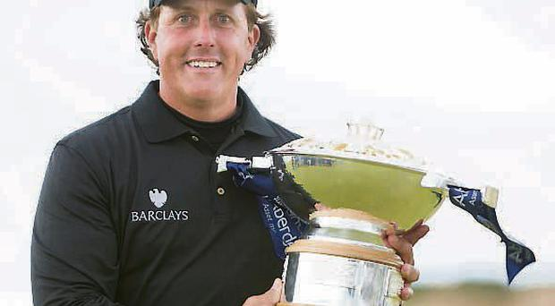 Phil Mickelson after his victory yesterday