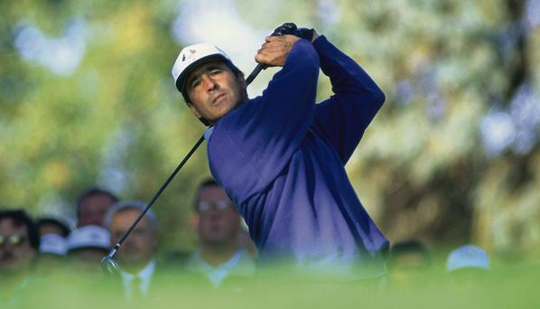 Spanish golfer Seve Ballesteros during final day's singles during the Ryder Cup matches at Oak Hill Country Club, New York, 24th September 1995.