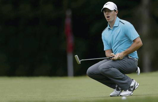 Rory McIlroy show his frustration at a missed birdie putt at Oak Hill, but he can reflect on a week that had plenty of promise