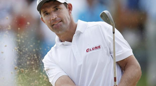 Padraig Harrington opted for a more conventional putter at the KLM Open