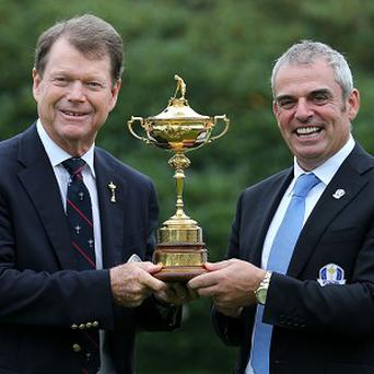 Ryder Cup captains Paul McGinley (right) and Tom Watson will keep a keen eye when the 10th Presidents Cup gets under way