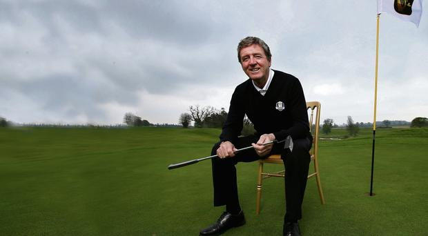 Des Smyth, gearing up at Carton House, will be one of Paul McGinley's vice-captains at this year's Ryder Cup