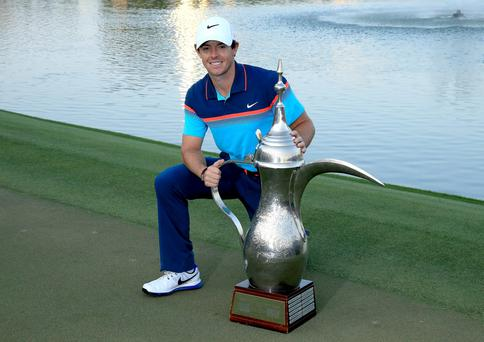 Rory McIlroy swaps the Dubai golf course for the court this week