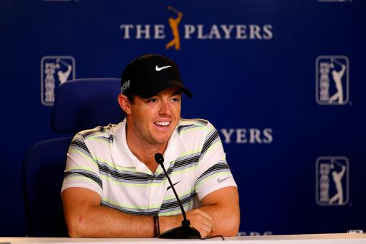Rory McIlroy speaking at Sawgrass yesterday