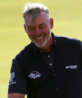 Darren Clarke caused a ripple of alarm at the Association of Golf Writers Dinner on Tuesday night with a joke regarding Rory McIlroy's ankle injury suggesting he won't be back until January