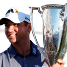 Jason Day with the BMW Championship trophy