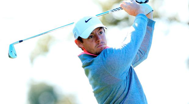 Rory McIlroy suffered a frustrating day on the greens in the final round of the Frys.com event in California
