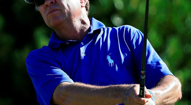 Davis Love III watches his drive from the first tee during the Hyundai Tournament of Champions in Hawaii (Getty)