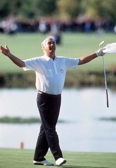 Win: Christy smiles at the 1989 Ryder Cup. Photo: ©INPHO