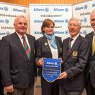 Winners: Cork captain Damian Wallace, lady captain Maeve Hickey and president James Lucey pictured with Liam Kelly (left) and Allianz director of sales Peter Kilcullen. Photo: Michael MacSweeney/Provision
