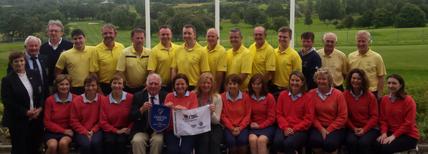 Greystones Mixed Foursomes team celebrate their wonderful victory