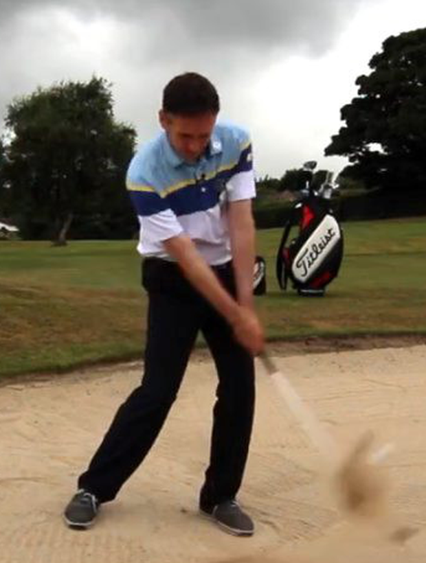 Get your hinge action on follow through for a more consistent strike