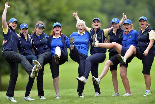 The Island Golf Club celebrates last year's All Ireland win over Kilkenny. Can they do it again?