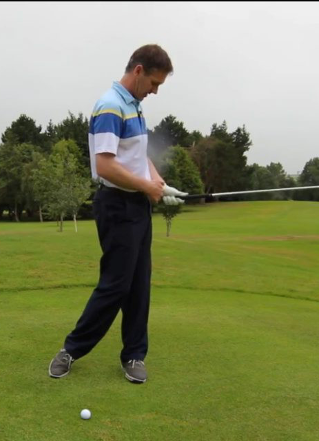 Try to finish your swing with your belt buckle facing the target.