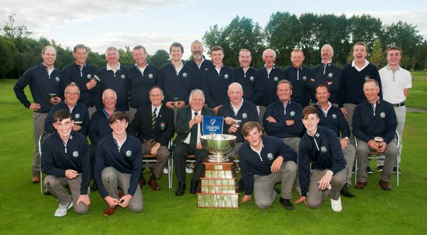 Woodbrook celebrate FBD Barton Cup win after nail-biting contest. Photo: Ronan Quinlan