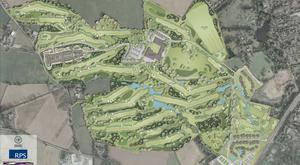 David Jones's plans for the parkland course in Hillsborough, Co. Down