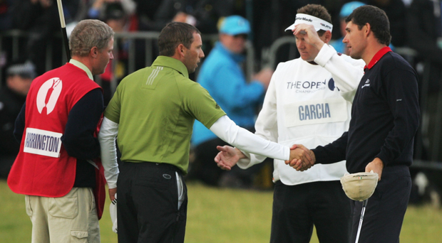 There was ill-feeling between Harrington and Garcia prior to the 2007 British Open: 'He was obviously very disappointed and I was obviously thrilled,' said Harrington, four months after the event. Photo: Getty Images