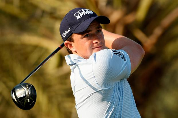 Paul Dunne battling to secure a place at the Masters. Photo: Getty