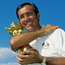 Seve Ballesteros with the Ryder Cup. Photo: Getty Images