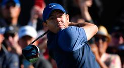 Rory McIlroy made just one birdie going out, holing a 10 footer for an excellent three at the fifth.