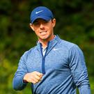 Rory McIlroy was in contention heading down the back nine in the final round of the Genesis Open. Photo: Getty