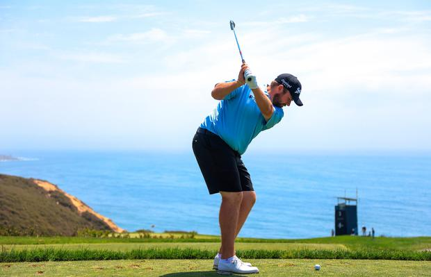 Ireland's Shane Lowry on the third hole during a practice round prior to the start of the 2021 US Open at Torrey Pines. Photo: Sean M Haffey/Getty