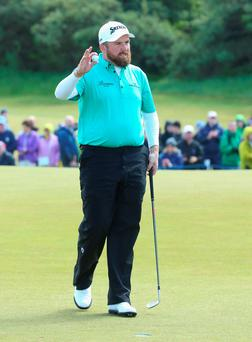 Shane Lowry after breaking his putter in anger during the second round of the Irish Open