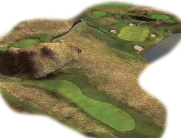 The beguiling seventh, a spectacular 174-yard par-three